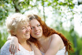Daughters - mothers — Stock Photo