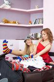 Komik kızlar — Stok fotoğraf