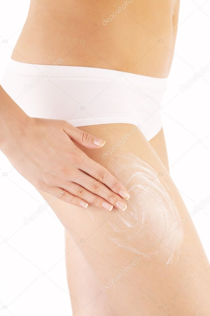The hand processes a hip a peeling, isolated  Stock Photo #2910188