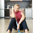 Cleaning a flat — Stock Photo