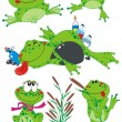 Funny Frogs — Stock Vector