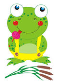 Frog with lollipop — Stock Vector