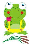 Frog with lollipop — Stock Vector