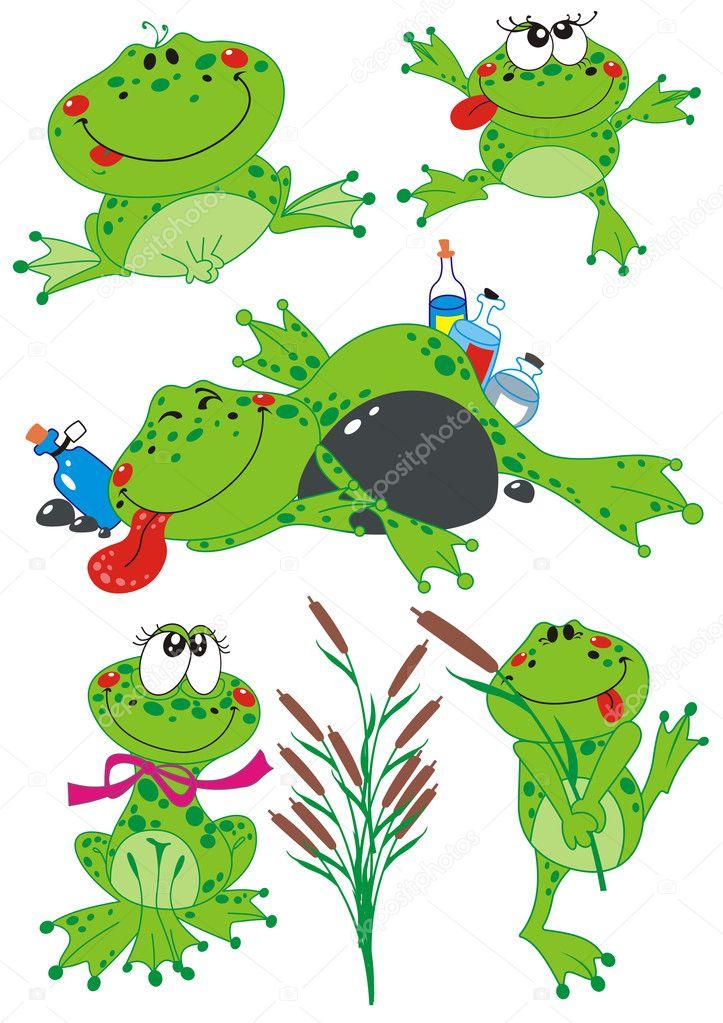 Жир лягушки талисман мультфильма