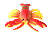 Toy crayfish on white — Stock Photo
