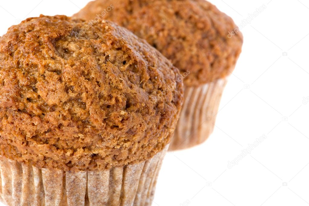Object on white - food muffin close up — Stock Photo #3174661