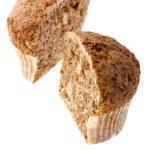 Cutting muffin macro — Stock Photo