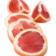 Pomelo on white — Stock Photo