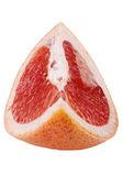 Pomelo on white close up — Stock Photo