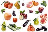 Frutas y hortalizas en blanco — Foto de Stock