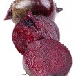Foto Stock: Cutting beet close up