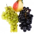 Grapes with pear on white — Stock Photo #3601477