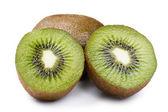 Sweet cutting kiwi macro — Stock Photo