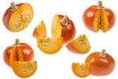 Ripe pumpkin on white — Stock Photo
