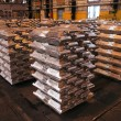 Stock Photo: Aluminium ingots
