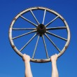 Stock Photo: Old wooden wheel