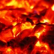 Stock Photo: Live coals in the oven