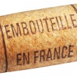 Royalty-Free Stock Photo: Wine cork with inscription embouteille en France