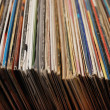 Lot of records in sleeves — Stock Photo