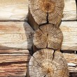 Logs of an old country house - Stock Photo