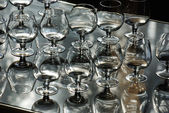 Lot of goblets — Stock Photo