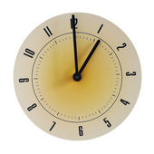 Grunge round face of clock — Stockfoto