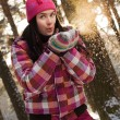 Beautiful young woman outdoor — ストック写真