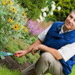 Man raking garden — Stock Photo #3740384