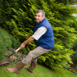 Man working in the garden - Stock Photo