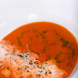 Stock Photo: Tomatoes soup (Shallow DOF)