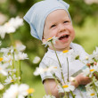 Smiling boy on the meadow — Stock Photo