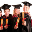 Group of happy students — Stock Photo #3740493