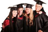Group of happy students — Fotografia Stock