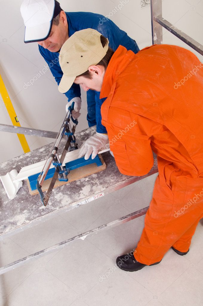 Construction workers at work — Stock Photo #3740407