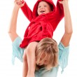 Portrait of happy mother with joyful son — Stock Photo #3902666