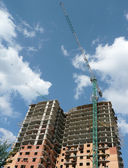 House develop with crane tower — Stock Photo