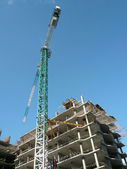 House develop at day with crane — Stock Photo