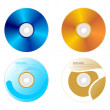 Set DVD disk with both sides — Stock Vector