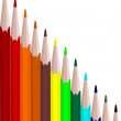 Colors set pencils — Stock Vector