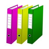 Three office folders — Stock Vector