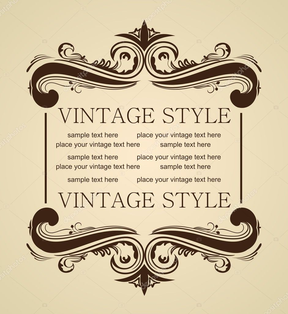 Vector luxury vintage for design — Stock Vector #2846097