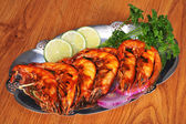 Barbecued Shrimp — Stock Photo
