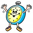 Happy clock illustration. — Stock Photo