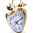 Stock Photo: Crazy golden alarm clock