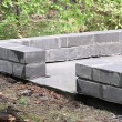 Foto Stock: Foundation for house