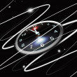Stock Photo: Abstract clock in space