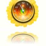 Flower clock — Stock Photo
