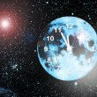 Stock Photo: Planet clock in space