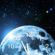 Planet clock in space — Stock Photo