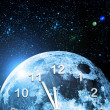 Planet clock in space — Stock Photo #3023198